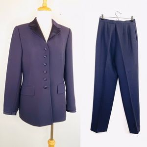 VINTAGE Albert Nipon SUITS 8 Tuxedo Blazer & Pants